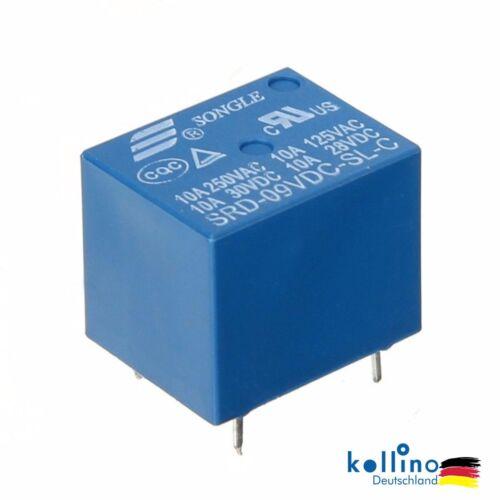 1//2//5//10Pcs Mini DC 9V SONGLE Miniatur Power Relais SRD-9VDC-SL-C PCB Type 5 Pin