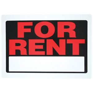 """Apartment 3 Pcs Rental Service Boat.. Sign 12/""""x 8-1//2/""""  RENT For  Office"""