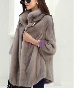 maniche pelliccia donne di caldo pelliccia collo sottile caldo Outwear di giacca Cappotto inverno pelliccia di 3 4 delle nuove vqOOAI