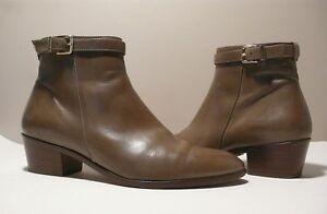 J.CREW Damens's Leder Leder Leder Zip Ankle Booties Sz 8 1 2 Made in      a1caf0