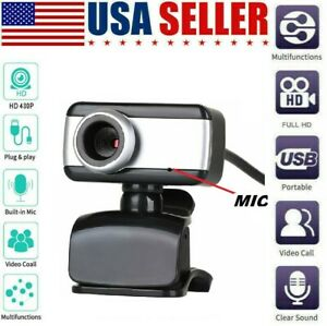 USB Webcam Camera with mic for Acer Asus Apple Lenovo computer laptop pc desktop