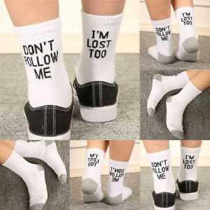 Damen Herren Ankle Brief Print Design Aus Muster Lustige Sport Socken Mode Neu