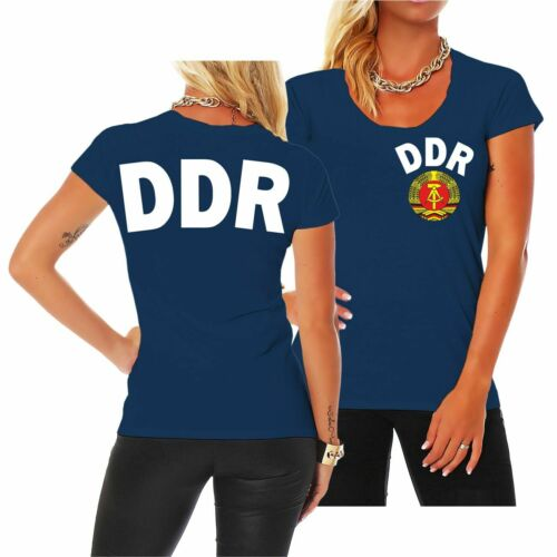 Frauen T-Shirt DDR Trikot Team ostdeutschland osten ossi 1974 sed fdj nva