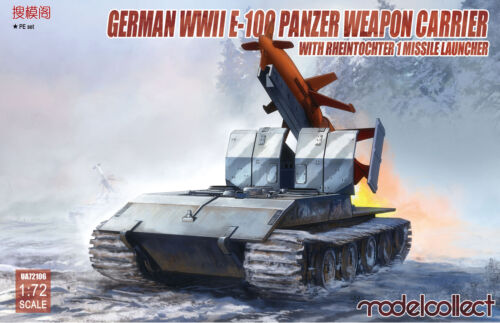 Modelcollect UA72106-1:72 German WWII E-100 panzer weapon carrier with Rheinto