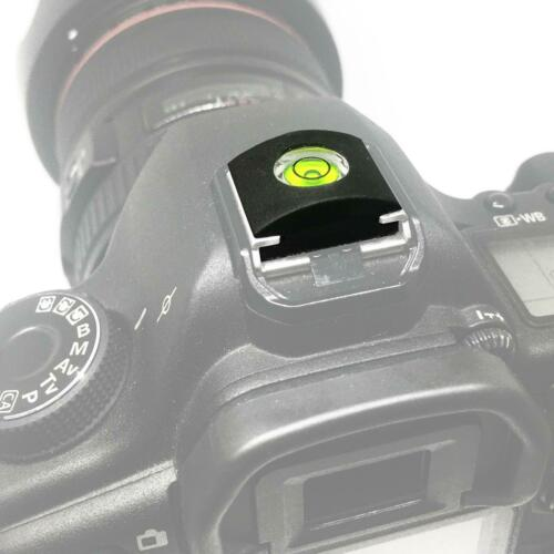 Cámara Espíritu Nivel De Burbuja Zapata Flash Cubierta de fotografía Cap DSLR SLR Studio