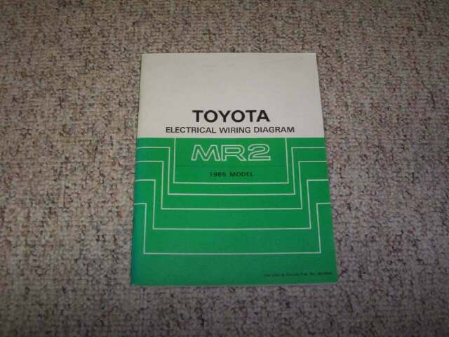 1985 Toyota Mr2 Electrical Wiring Diagram Manual Std 1 6l