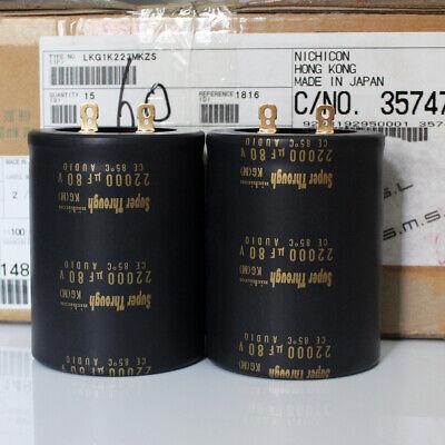 For 2pcs Nichicon KG 71V 12000UF Audio Capacitor 35*60MM
