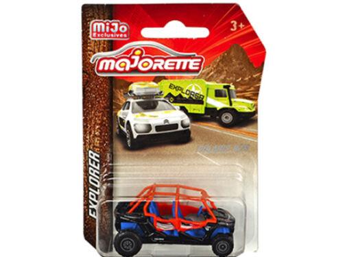 Majorette Explorer Polaris RZR ATV Model Car Black 1:57-1:64 7601 MJT