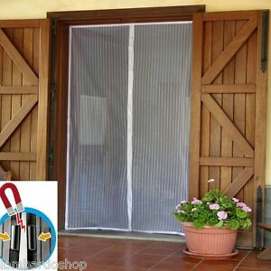 Tenda zanzariera magnetica nera universale con magnete mosche zanzare 240x140 ebay - Zanzariera magnetica finestra ...