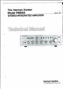 Harman Kardon Service Manual Für Model Pm 665 SorgfäLtig AusgewäHlte Materialien Tv, Video & Audio