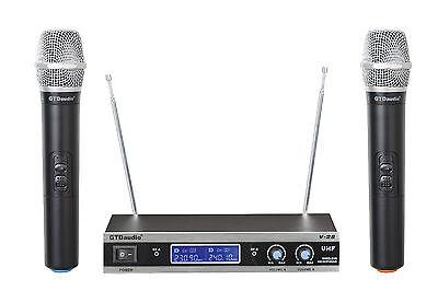 GTD Audio 2 Channel VHF Handheld Wireless Microphone System (Brand New) V-28H