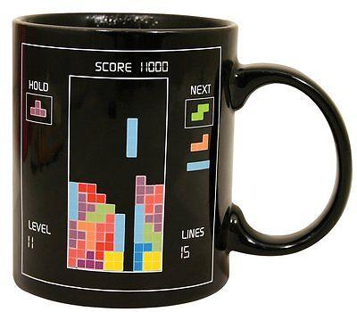 Official 80's Classic Retro Arcade Game Tetris Heat Change Mug Ceramic