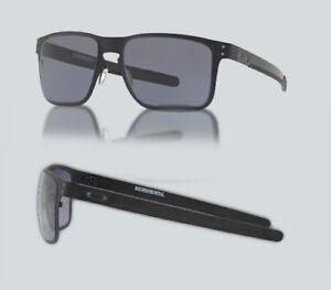 0f34de0ae88ec New Oakley OO 4123 HOLBROOK METAL 412301 Matte Black Sunglasses ...