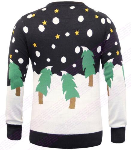 XMAS Mens Christmas Jumper Xmas Knitted Santa Novelty 3D Sweater S M L XL WINTER