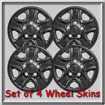 "Set 4 fit 2007-2018 Toyota Tundra 18/"" Black Wheel Skins Hub Caps Full Rim Covers"