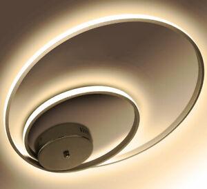 Details zu LED Deckenlampe Deckenleuchte Lampe Wohnzimmer Design Leuchte  Modern Ringe 32W