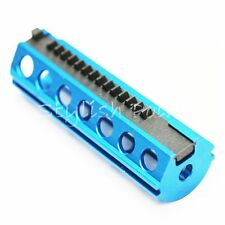 Airsoft AEG Gear Upgrade Tools SHS Aluminium 14 Steel Half Teeth Piston Blue