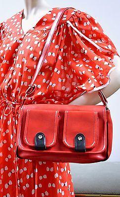 Borsa Borsetta Handbag Bag Rosso Nero 60er True Vintage 60s Borsa A Tracolla-mostra Il Titolo Originale