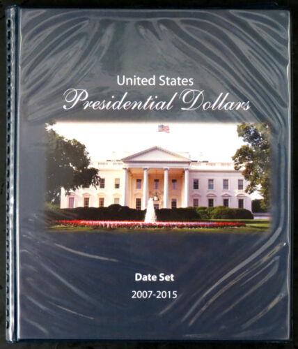 EDALBP$DS United States Presidential Dollars Album 2007 through 2015 Date Set
