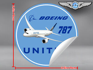 UNITED-AIRLINES-UAL-ROUND-BOEING-B787-B-787-DECAL-STICKER