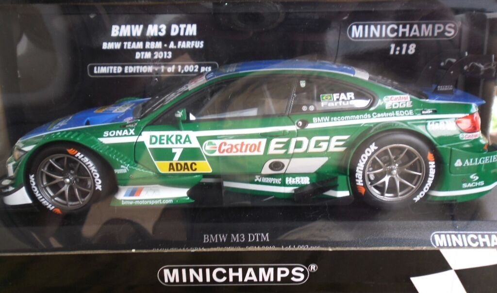 MINICHAMPS BMW M3 DTM 2013 A. FARFUS scala 1 18 nuova in scatola