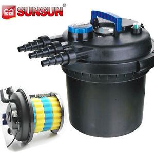 5000 gal pressure bio filter w 18w uv sterilizer light for Uv pond filter and pump