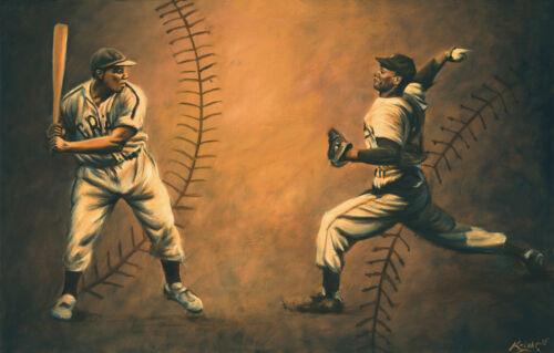 Baseball Painting Negro league Artwork Josh Gibson Stretched Canvas Print