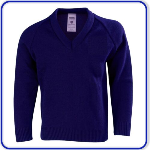 """46/"""" New Good Quality Mens Womens Adult V-Neck Knitted Pullover Jumpers Size 40/"""""""