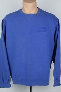 Vintage-Starter-Mens-Medium-Embroidered-Logo-Faded-Blue-Crewneck-Sweatshirt-USA