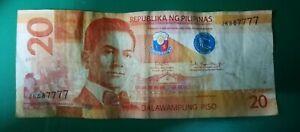 20-Pesos-Philippines-Banknote-Unique-Serial-Number-JK587777