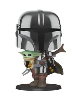 The Mandalorian Chrome 10-Inch Pop Vinyl NOVEMBER PRE ORDER! Star Wars