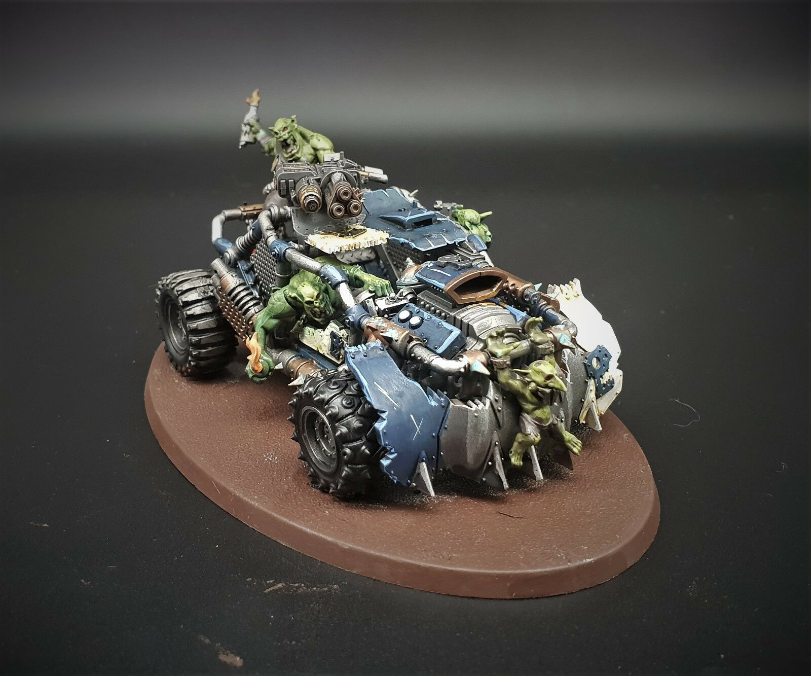 Warhammer 40k Orks speed freeks boomdakka snazzwagon  pro painted made to order