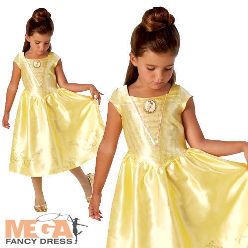 2019 Nuevo Estilo Acción En Vivo Belle Niñas Princesa Disney Vestido Elaborado Disfraz Infantil Día Del Libro De Belleza-ver