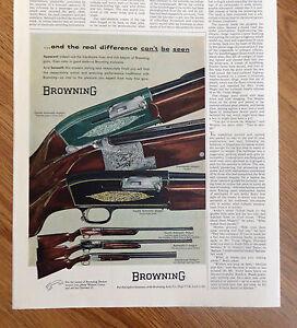 Details about 1956 Browning Shotguns Ad Shows 6 Guns