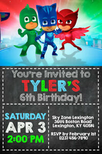 image about Pj Masks Printable Images identify Information and facts pertaining to PJ Masks Invites - Birthday Social gathering - Delivered or Printable
