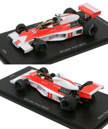 New Spark 50th McLaren Ford M23D 1//43 1976 James Hunt  world Champion Limited