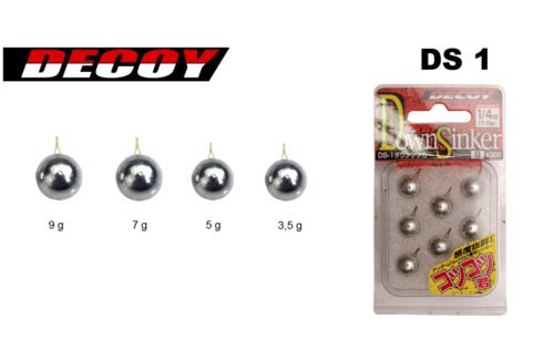 Plombs Decoy Down Sinker DS-1 5g par 8