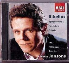 New! SIBELIUS Symphony No 1 Karelia Suite Mariss Jansons CD 1991 EMI BMG SEALED