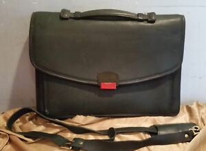 0e68cb1b25a6 Image is loading Vintage-Leather-Coach-Briefcase-Dark-Green-Beautiful