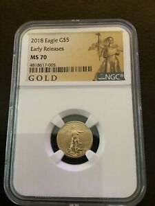 2018 1/10 oz Gold American Eagle Early Releases NGC MS 70
