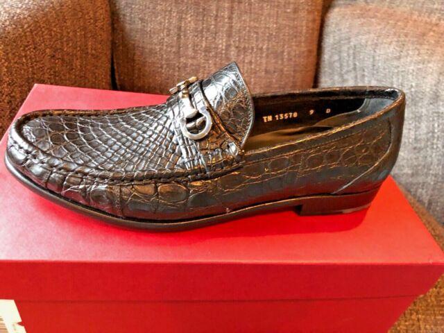 2d5b63017b081 Salvatore Ferragamo GIOSTRA 3 Crocodile Loafers DS Sz. 9d #048374 ...