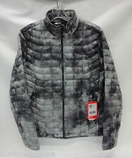 North Face Mens Thermoball Full Zip Jacket C762 Asphalt Grey Cirrus Print Large