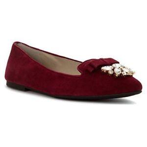 22c9c32db37 Michael Kors Women s Shoes Felicity Flat Burgundy Flats Blemish ...