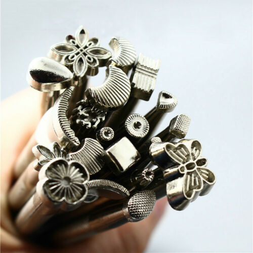 20pcs Leather Working Saddle Making Stamps Tool Set for Leathercraft Carving DIY