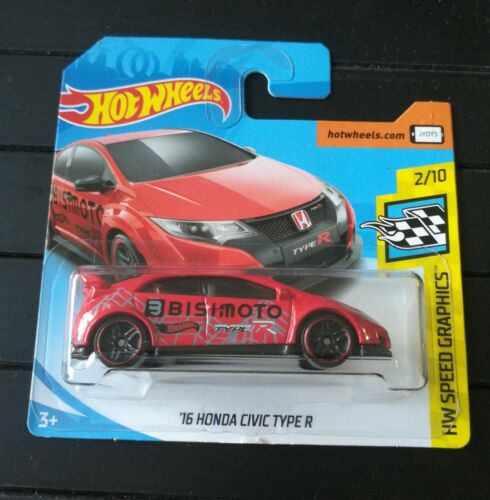 Hot Wheels 16 Honda Civic Type R HW Speed Graphics 2//10 1:64 126//365 2017 Mattel