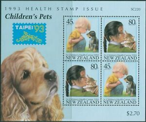 New-Zealand-1993-SG1744-Health-Pets-Taipei-MS-MNH