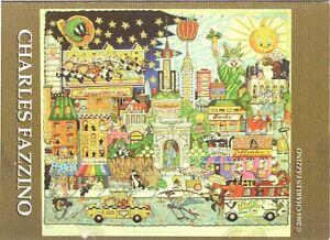 """Charles Fazzino """"park Avenue To Times Square"""" Kunst & Architektur Autogramme & Autographen Hand-signierte Klappkarte"""