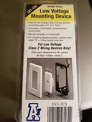 Case of 10 Arlington LV1 Single Gang Wall Plates Low Voltage Class 2