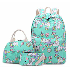 Cute Unicorn Women Backpacks Girls Teen School Bags Kid Bookbags Travel Rucksack