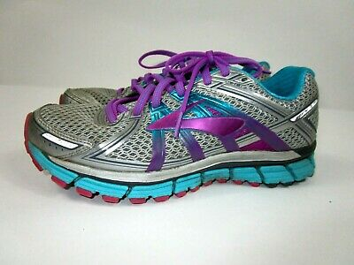 Running Shoes Silver Pink Purple Blue